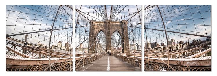 Brooklyn bridge Mounted Art Print