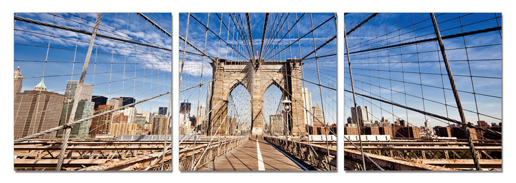 Brooklyn bridge Mounted Art Print