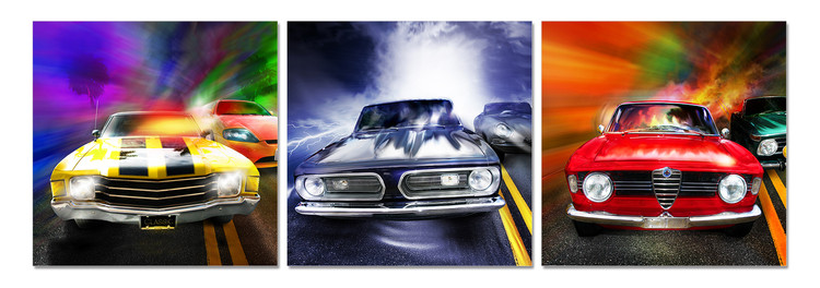 Cars Mounted Art Print