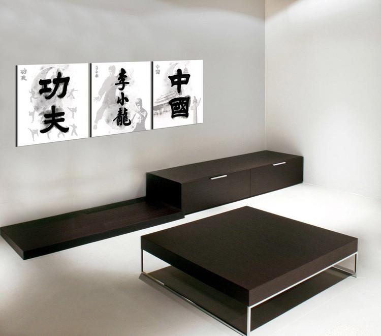 China Signs - Kung Fu. Bruce Lee, China Mounted Art Print