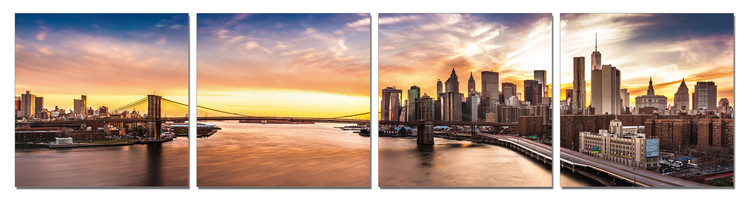 City sunrise Mounted Art Print