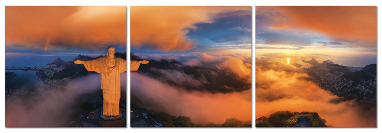 Clouds over Rio de Janeiro Mounted Art Print