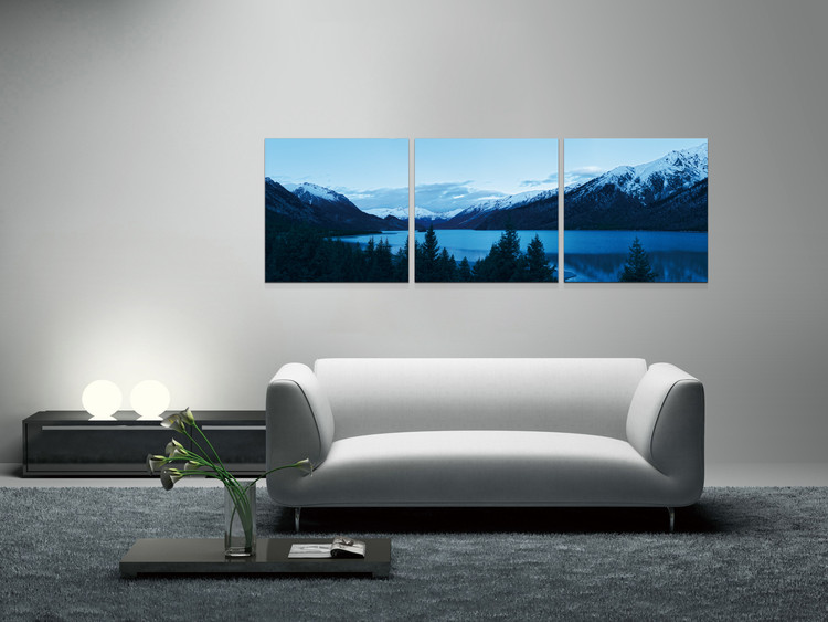 Early morning on the lake Mounted Art Print