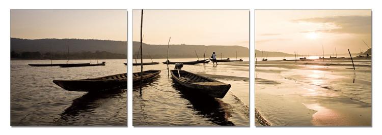 Fishing Area Mounted Art Print