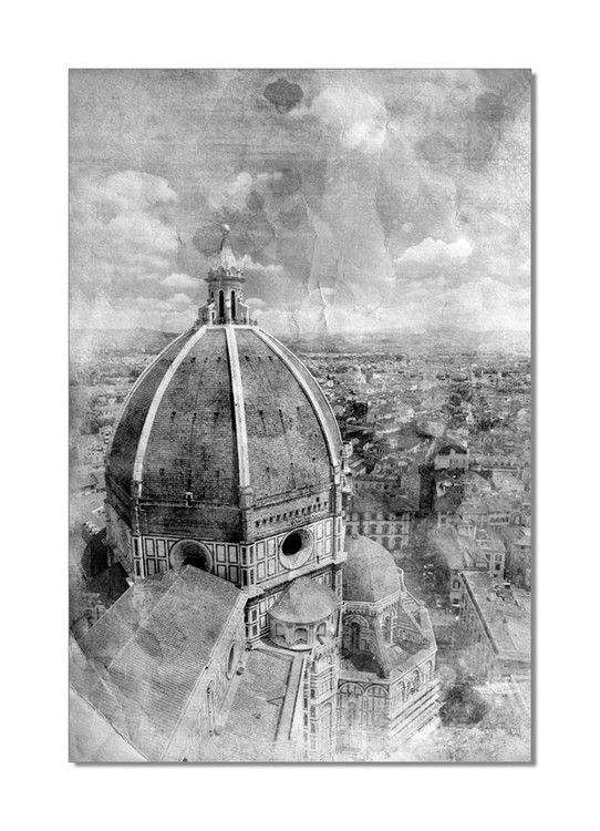Florence - Cathedral Santa Maria del Fiore Mounted Art Print