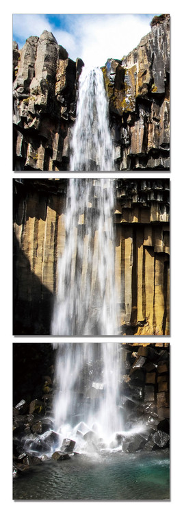 Fresh waterfall Mounted Art Print