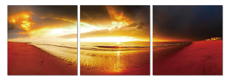 Golden sunset Mounted Art Print