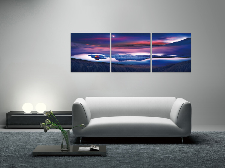 Looking into the night landscape Mounted Art Print