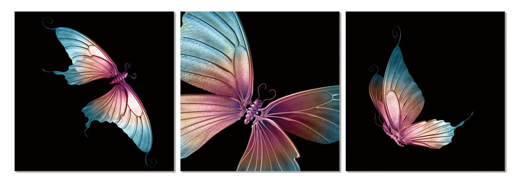 Modern design - butterfly Mounted Art Print