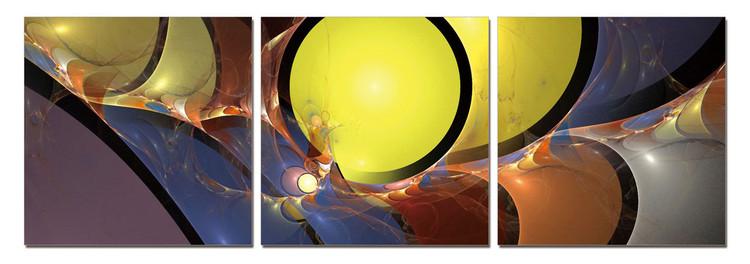 Modern Design - Circles Mounted Art Print