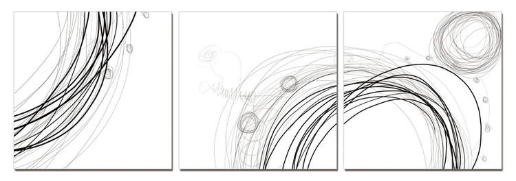 Modern Design - Lines Mounted Art Print