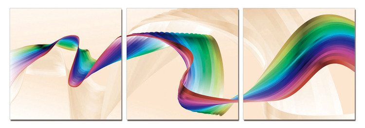 Modern Design - Rainbow Mounted Art Print
