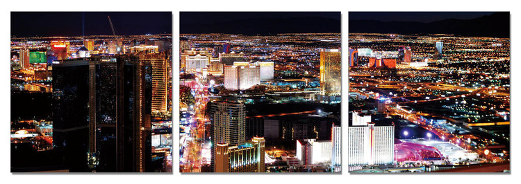 Night metropolis Mounted Art Print