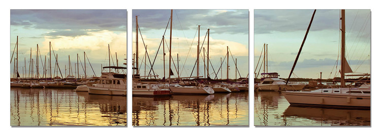 Peace in the dock Mounted Art Print