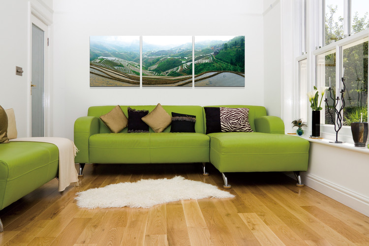 Plantations on the hills Mounted Art Print