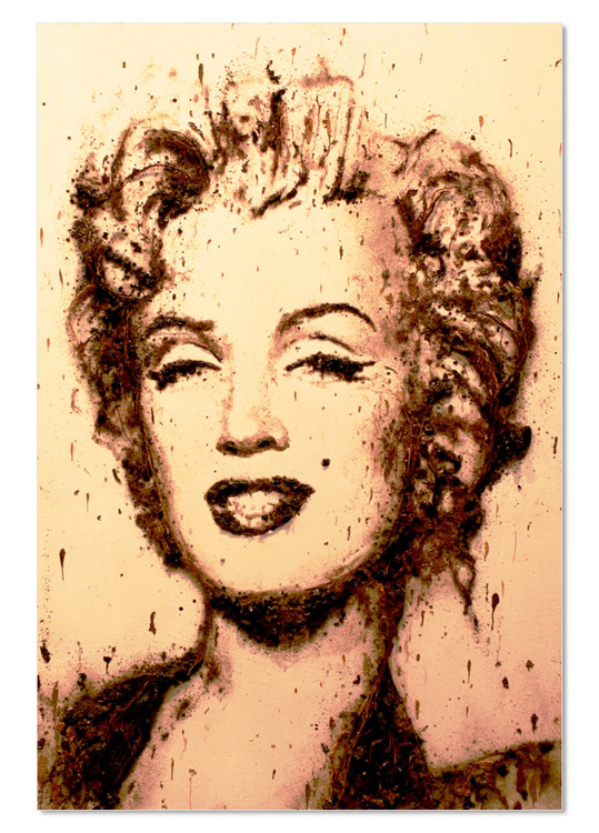 Portrait - Marilyn Monroe Mounted Art Print