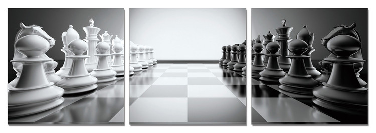 Ready for chess Mounted Art Print