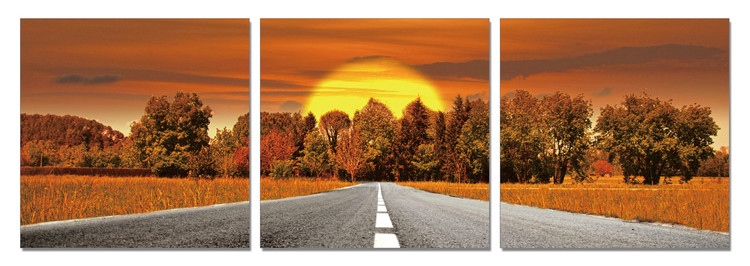Road to the West Mounted Art Print