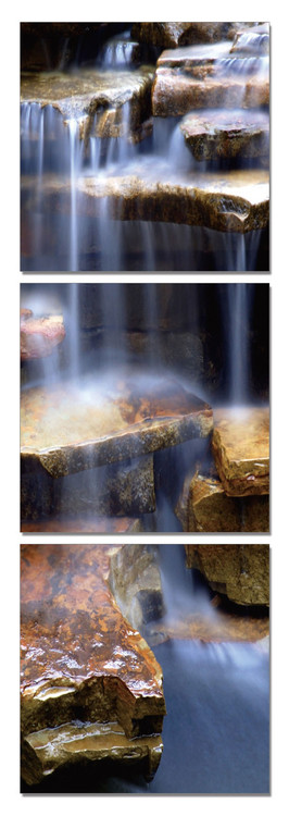 Rock waterfall Mounted Art Print