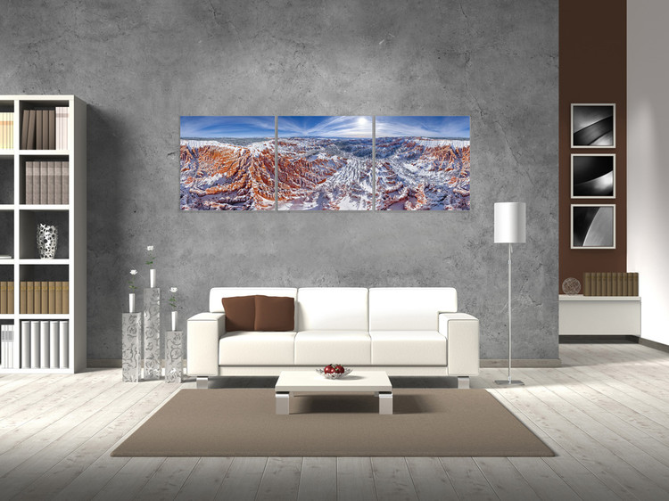 Snowy Mountains Mounted Art Print