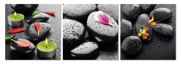 Spa - stones Mounted Art Print