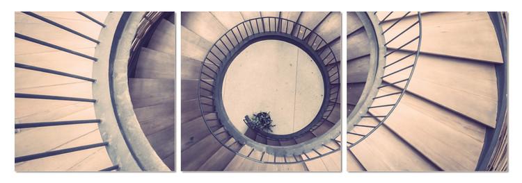 Spiral staircase Mounted Art Print
