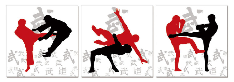 Sport - Kickbox Mounted Art Print