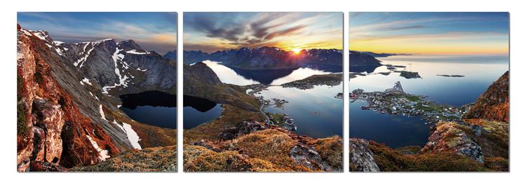 Sunrise over the bay Mounted Art Print