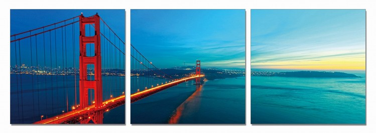 The Golden Gate Bridge Mounted Art Print