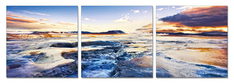 The tide in sunset Mounted Art Print