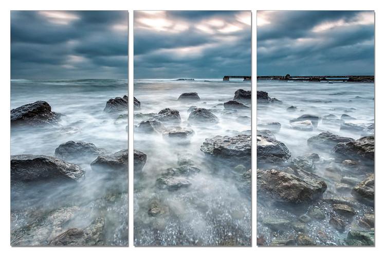 Tide in rocks Mounted Art Print
