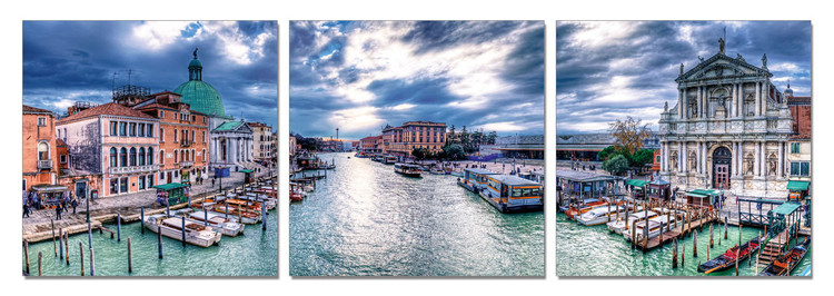 Venice - Bay Mounted Art Print