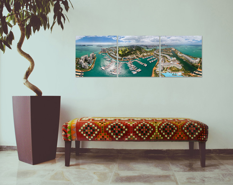 View over the bay Mounted Art Print