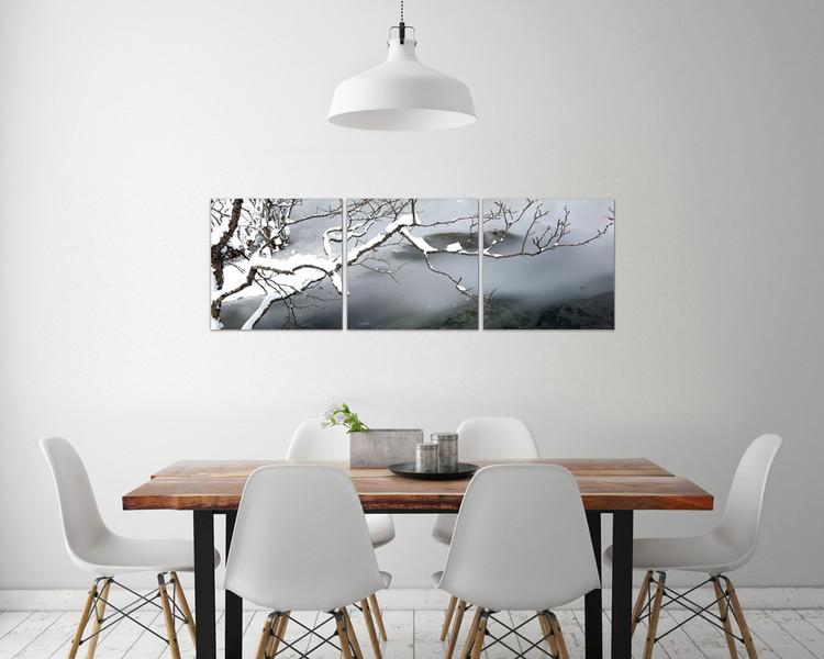 Winter Snapshot Mounted Art Print