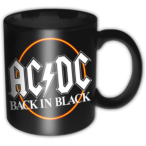 AC/DC - Back In Black Circle Black Mug