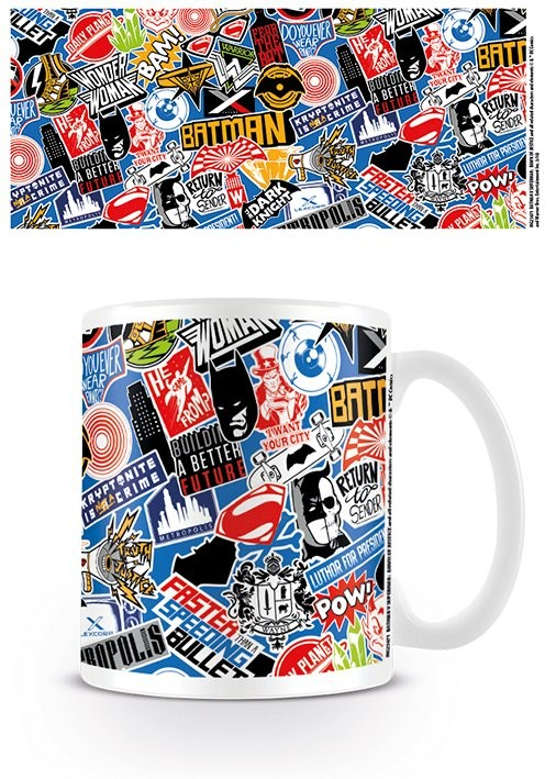 Batman v Superman: Dawn of Justice - Stickers Mug