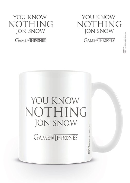 Game of Thrones - You Know Nothing Jon Snow Mug