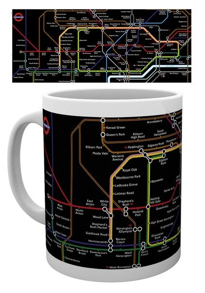 Cup Transport For London – Black Map
