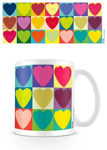 Cup Valentine's Day - Pop Art Hearts