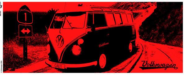 VW Camper - California Red Mug