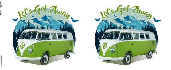 VW Camper - Lets Get Away Mug