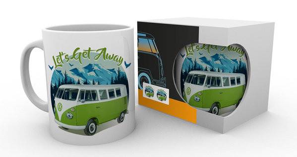 748a57e9 VW Camper - Lets Get Away Mug, Cup | Buy at UKposters