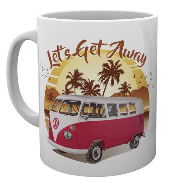 VW Camper - Lets Get Away Sunset Mug