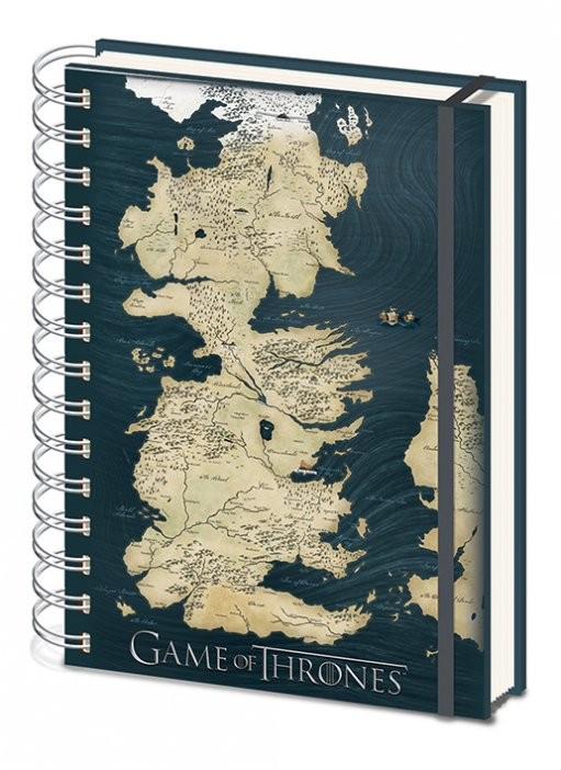 Game of Thrones - Map A5 notebook Muistiinpanovälineet