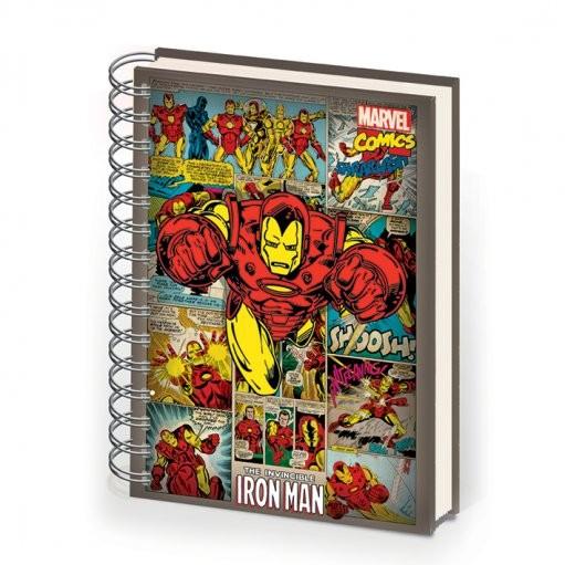 IRON MAN - notebook A5 Muistiinpanovälineet