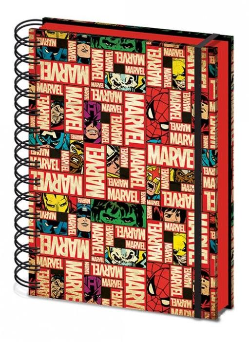 Marvel - Block Logo) A5 notebook   Muistiinpanovälineet