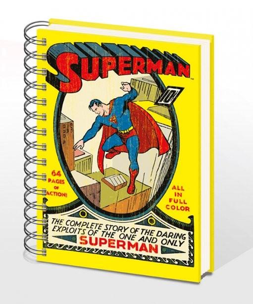 SUPERMAN NO.1 - notebook A5 Muistiinpanovälineet
