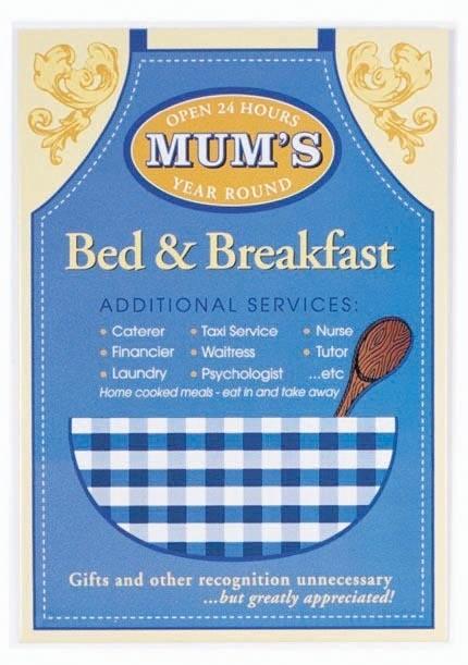 MUM'S - Bed and breakfast Plaque métal décorée