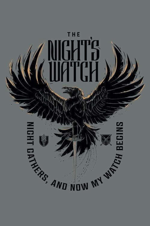 Murais de parede A Guerra dos Tronos - The Night's Watch