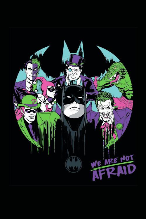 Murais de parede Batman and his enemies